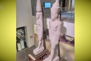Patung Mesir kuno kembali dari tur dunia