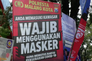 Kota Malang dipercaya untuk kampanyekan penggunaan masker