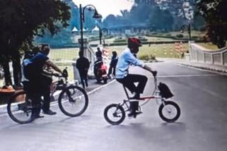 Presiden Jokowi berolahraga sepeda di Kebun Raya Bogor
