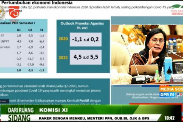 Sri Mulyani sebut pemulihan ekonomi semester I di 2021 belum bisa maksimal