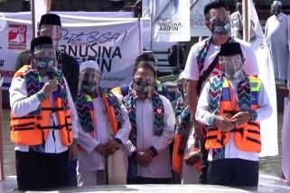 Calon petahana Ibnu Sina-Arifin Noor deklarasi di Sungai Martapura