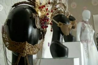 Kreasi masker etnik Nusantara yang menembus pasar luar negeri