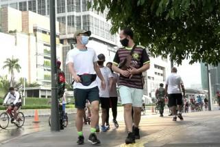 Kata masyarakat soal ramainya Bundaran HI saat PSBB Jakarta