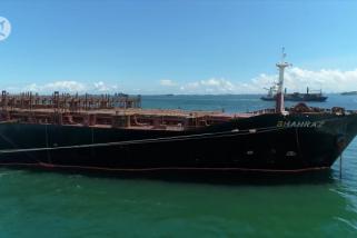 Kapal Iran empat bulan kandas di perairan Batam belum bisa dipindahkan