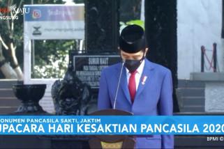 Presiden Joko Widodo pimpin upacara Hari Kesaktian Pancasila 2020