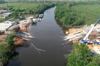 Polda Babel selidiki ambruknya Jembatan Jerambah Gantung