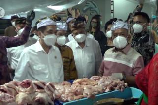 Mendag sidak prokes dan harga sembako di Pasar Badung