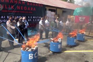 Bea Cukai Banjarmasin musnahkan barang ilegal senilaiRp5,2 miliar