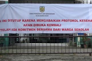 Abaikan prokes, tiga sekolah di Banda Aceh ditutup