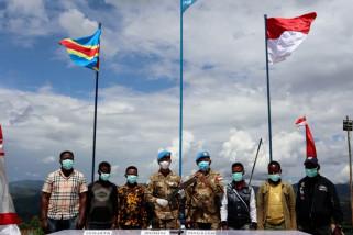 4 pemberontak Kongo serahkan senjata api ke Satgas TNI Konga