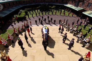 Mengikuti prosesi pemakaman Pangeran Philip