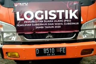 KPU distribusikan logistik PSU Pilgub Jambi