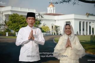 Pesan Presiden dan Ibu Negara di hari Idul Fitri 1442 H