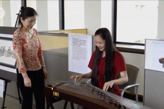 Berbagai alat musik tradisional Asia dipamerkan di Dallas, AS