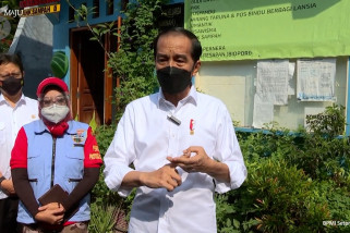 Presiden tinjau lokasi penerapan PPKM mikro di Jakarta Pusat