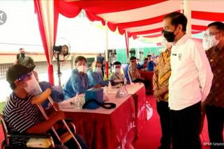 Jokowi harap pelaksanaan vaksinasi COVID-19 di Bekasi dicontoh