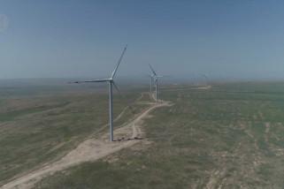 Ladang angin terbesar di Asia Tengah akan aliri listrik 1 juta rumah di Kazakhstan
