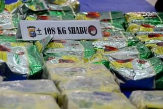 Upaya peredaran 108 Kg sabu-sabu asal Malaysia berhasil digagalkan