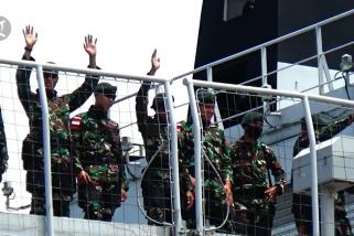 Personel TNI AD dari Aceh diberangkatkan ke perbatasan Papua