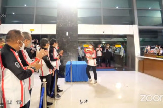 Kontingen Indonesia di Olimpiade Tokyo tiba di Tanah Air
