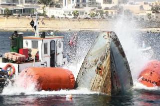 Malta tenggelamkan kapal patroli bekas, jadikan atraksi bawah laut