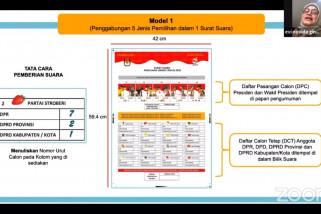 KPU sederhanakan surat suara pemilu serentak 2024