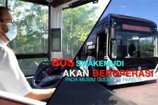 Bus swakemudi akan beroperasi pada musim gugur di Paris