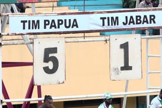Sepak bola putra Papua gulung Jabar 5-1