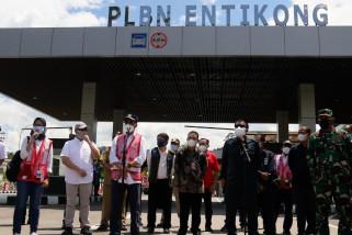Menhub tinjau pengawasan perbatasan RI-Malaysia di Kalbar