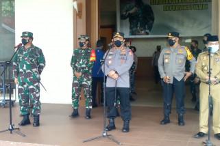 Panglima TNI dan Kapolri tinjau vaksinasi merdeka di Jambi