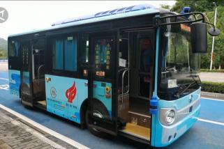 Kota Chongqing mulai uji coba bus swakemudi pertamanya