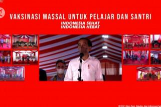 Jokowi tinjau vaksinasi di Tarakan