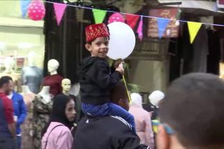 Semarak perayaan Maulid Nabi Muhammad di Nablus, Palestina